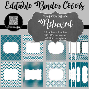 Binder/Document Covers & Spines - Dual-Color: Relaxed