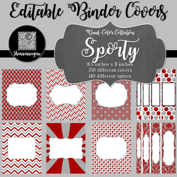 Binder/Document Covers & Spines - Dual-Color: Sporty