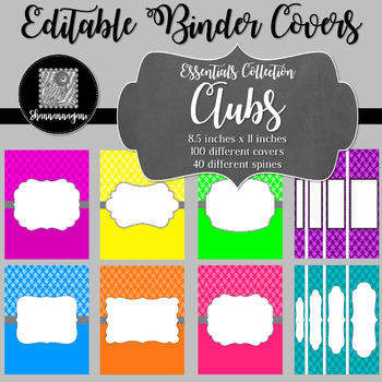 Binder/Document Covers & Spines - Essentials: Clubs