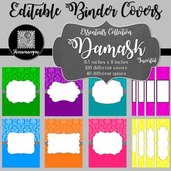 Binder/Document Covers & Spines - Essentials: Damask (Inverted)