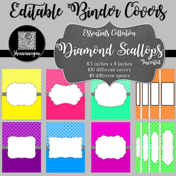 Binder/Document Covers & Spines - Essentials: Diamond Scallops (Inverted)