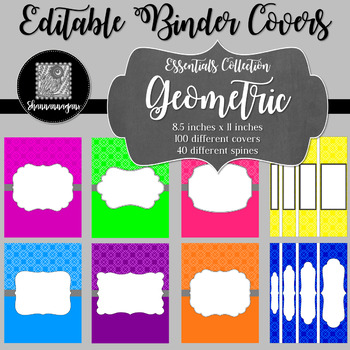 Binder/Document Covers & Spines - Essentials: Geometric