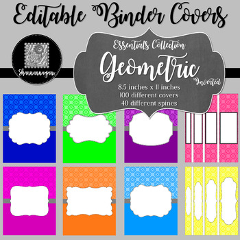 Binder/Document Covers & Spines - Essentials: Geometric (Inverted)