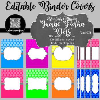 Binder/Document Covers & Spines - Essentials: Jumbo Polka Dots (Inverted)
