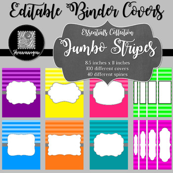 Binder/Document Covers & Spines - Essentials: Jumbo Stripes