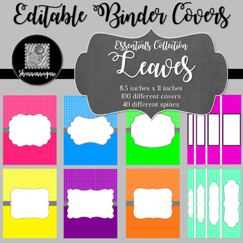 Binder/Document Covers & Spines - Essentials: Leaves
