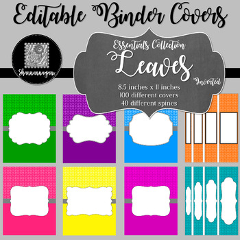 Binder/Document Covers & Spines - Essentials: Leaves (Inverted)