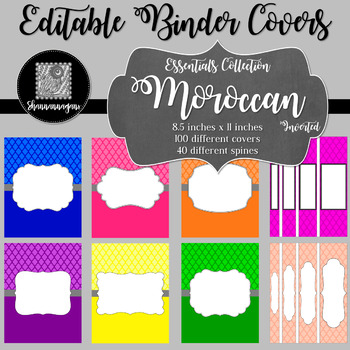 Binder/Document Covers & Spines - Essentials: Moroccan (Inverted)