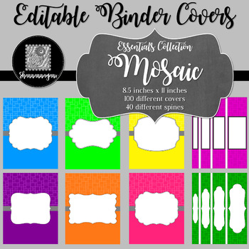 Binder/Document Covers & Spines - Essentials: Mosaic