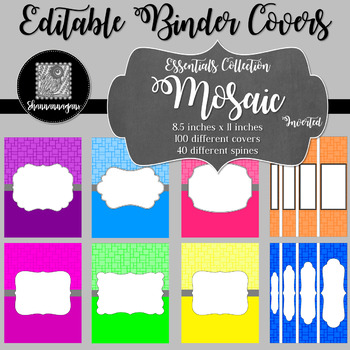 Binder/Document Covers & Spines - Essentials: Mosaic (Inverted)