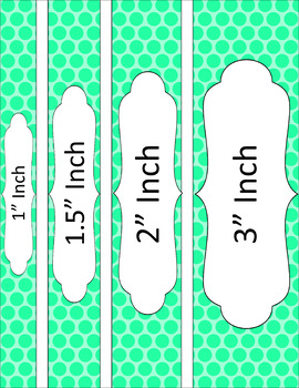 Binder/Document Covers & Spines - Essentials: Polka Dots
