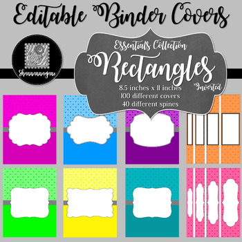 Binder/Document Covers & Spines - Essentials: Rectangles (Inverted)
