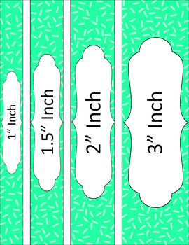 Binder/Document Covers & Spines - Essentials: Sprinkles (Inverted)