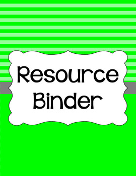 Binder/Document Covers & Spines - Essentials: Stripes