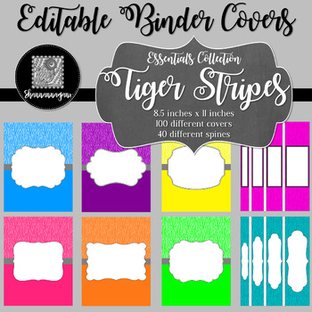 Binder/Document Covers & Spines - Essentials: Tiger Stripes