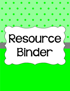 Binder/Document Covers & Spines - Essentials: Tiny Dots