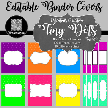 Binder/Document Covers & Spines - Essentials: Tiny Dots (Inverted)