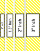 Binder/Document Covers & Spines - Essentials & White: Diagonal Stripes