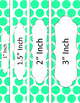 Binder/Document Covers & Spines - Essentials & White: Jumbo Polka Dots