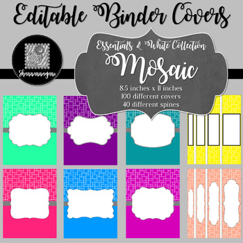 Binder/Document Covers & Spines - Essentials & White: Mosaic