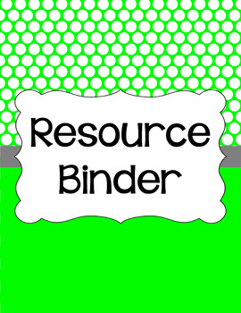 Binder/Document Covers & Spines - Essentials & White: Polka Dots (Inverted)