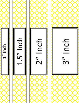 Binder/Document Covers & Spines - Essentials & White: Quatrefoil (Inverted)