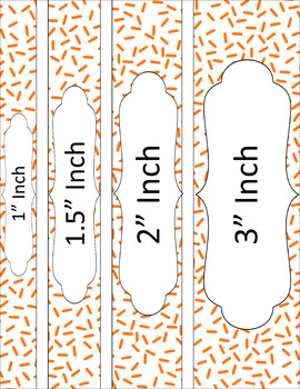 Binder/Document Covers & Spines - Essentials & White: Sprinkles