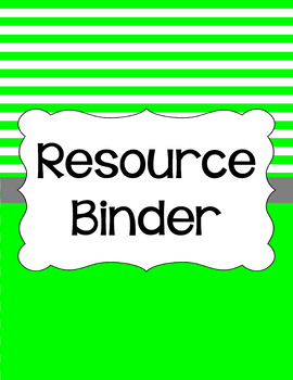 Binder/Document Covers & Spines - Essentials & White: Stripes