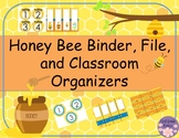 Honey Bee Binder, File, and Classroom Organizers Bundle