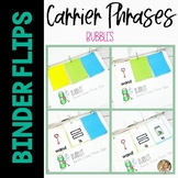 Binder Flips Bubbles Activity | Carrier Phrases for Speech Therapy