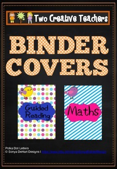 Binder Folder Covers Boho Birds Theme
