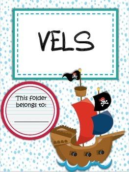 Binder Folder Covers Pirate Theme