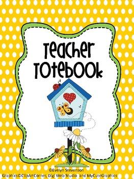Binder Garden Party Teacher Totebook