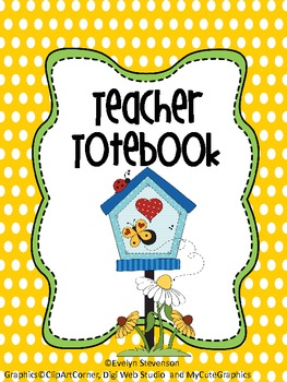 Binder Garden Party Teacher Totebook