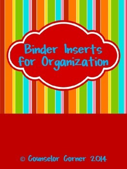 "Binder Inserts for Organization {""Bold"" Set}"