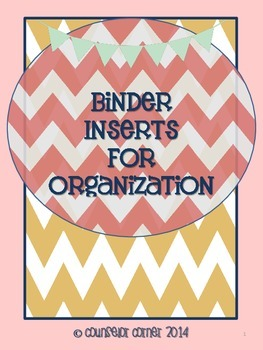 "Binder Inserts for Organization {""Rustic"" Set}"