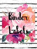 *Editable* Floral Classroom Organization Labels