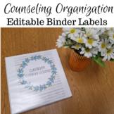 Floral Binder Labels (Editable)