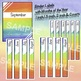 Binder Labels Rainbow Ombre Months of the Year