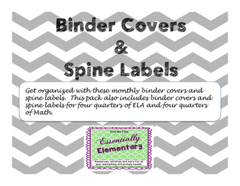 Binder Labels and Covers