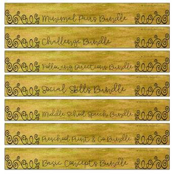 Binder Labels for Bundles | SLP Organization