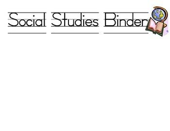 Binder Lables
