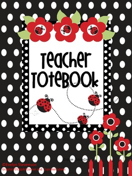 Binder Lady Bug Picnic Teacher Totebook