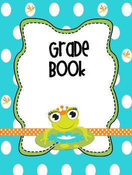 Binder Little Green Frog Teacher Totebook