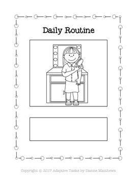Binder Match Daily Routines and Worksheets