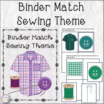 Binder Matching Sewing Theme