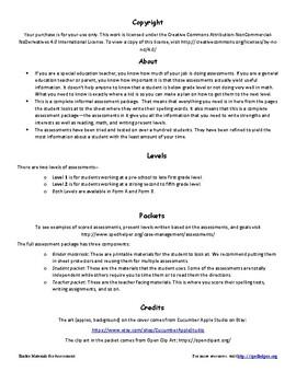 Special Education Progress Report Binder Materials for Assessment