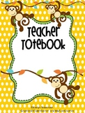 Binder Monkey Business Teacher Totebook