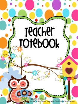Binder Owl See You in My Dreams Teacher Totebook