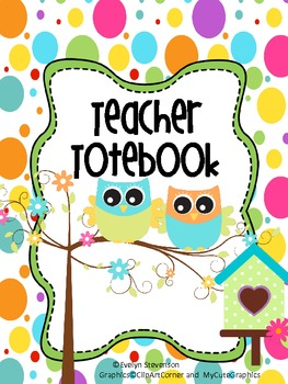 Binder Owl That Teacher Totebook